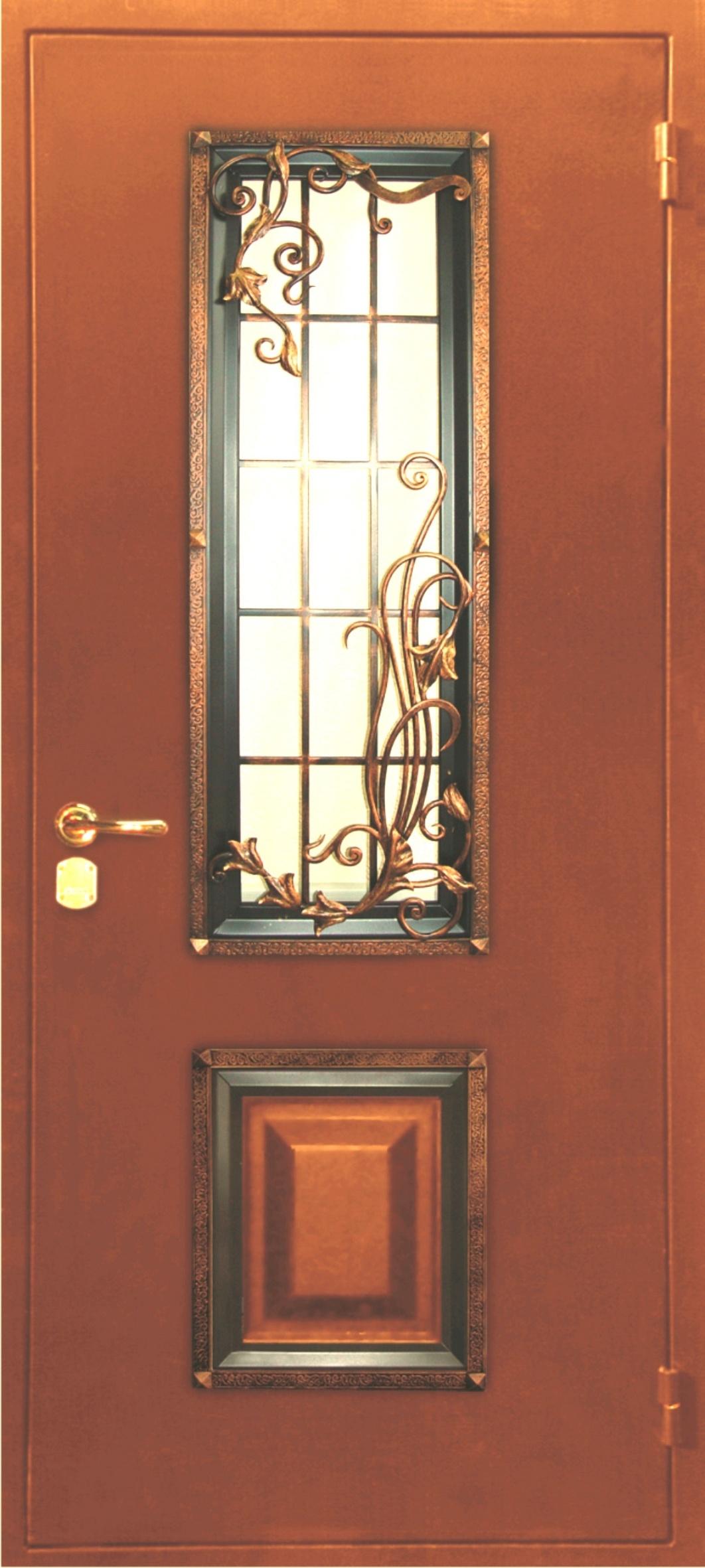 отделка дверей металлическими элементами